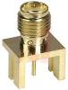 connector,rf coaxial,sma pcb edge mountjack recept,for 0.032 pc board,gold -- 70142703