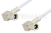 75 Ohm Mini SMB Plug Right Angle to 75 Ohm Mini SMB Plug Right Angle Cable 12 Inch Length Using 75 Ohm RG187 Coax, RoHS -- PE34696LF-12 -Image