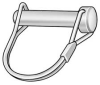 Safety Pin,Snap,Zinc,1/4x1 3/4 L -- 3HKP4