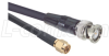 RG58C Coaxial Cable, SMA Male / BNC Male, 5.0 ft -- CCS58AB-5