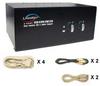 Linkskey 2-port Dual Monitor DVI/DVI USB Audio & Mic KVM Switch w/ cables -- LDV-DM202AUSK - Image