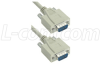 Reversible Hardware Molded D-Sub Cable, DB9 Male / Male, 25 ft -- CRMN9MM-25