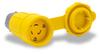 20A Electrical Connector w/cap: watertight, locking, NEMA L5-20 -- 27W47BRY
