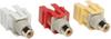 Composite Audio Video Keystone Jack, Snap-in Insert Module (R,Y,W F/F) -- A020-000-KJ - Image