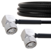 Fire Rated Low PIM RA 4.3-10 Male to RA 4.3-10 Male Cable SPF-250 Coax in 60 Inch Using Times Microwave Parts and RoHS -- FMCA2024-60 -Image