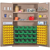 """Heavy-Duty All-Welded Storage Cabinets - 48"""" Wide - QSC-BG-4804 - Image"""