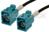 Water Blue FAKRA Jack to FAKRA Jack Cable 36 Inch Length Using RG174 Coax -- PE38750Z-36 -Image