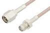 SMA Male to SMA Female Cable 12 Inch Length Using RG316 Coax, RoHS -- PE3832LF-12 -Image