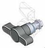 Handle & Wing Knob Quarter Turn Latch -- Separate Housing Series - Image