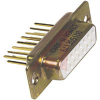 connector,d-sub,str recept,machined contacts,.375 pcb wire wrap,15 socket cont -- 70039618