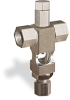 """(Formerly B1629-11-TP-SG), Cross Small Sight Feed Valve, Solid Gasket, 1/4"""" Female NPT Inlet, 1/4"""" OD Tube Outlet, Tamperproof -- B1628-235B2TW -Image"""