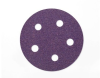 3M 732U Coated Ceramic Aluminum Oxide Hook & Loop Disc - 150 Grit - 5 in Diameter 5 Vacuum Holes - 87058 -- 051125-87058 - Image