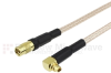 RA MMCX Plug to MMCX Jack Cable RG316 Coax in 48 Inch -- FMC1924316-48 -- View Larger Image