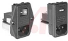 Power entry module with RFI Power Line Filter; 6AMP; Snap-In -- 70185696