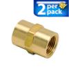 Connector Air Fitting: female, brass, for 1/2n NPT to 1/2in NPT, 2/pk -- BFFC-12N -- View Larger Image