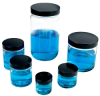 1oz/30ml Wide Mouth Straight Sided Clear Glass Rounds 43-400 Neck, PV Cap -- 72500
