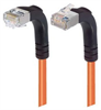 Category 5E Shielded Right Angle Patch Cable, Down/Right Angle Up, Orange 3.0 ft -- TRD815SRA4OR-3 -Image