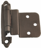 3/8 Inch Inset Hinge, Solid Brass, Oil Rubbed.. -- 408298