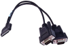 PCMCIA to (2) DB9M Cable -- CA162