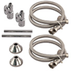 3/8 in. Quick-Connect Straight Valve, 20 in. Stainless Steel Braided Faucet Connectors and Trim - Chrome Plated -- Q889SB20