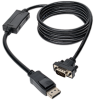 DisplayPort to VGA Cable, Displayport with Latches to HD-15 Adapter (M/M), 3-ft. -- P581-003-VGA - Image