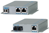 10/100/1000BASE-T to 100BASE-X Media Converter with Power over Ethernet -- OmniConverter™ FPoE/SE and FPoE+/SE