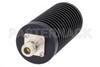 50 Watt RF Load Up to 3 GHz With N Female Input Round Body Black Anodized Aluminum Heatsink -- PE6234 -Image