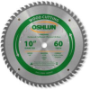 Oshlun SBW-100060T 10-Inch 60 Tooth Multi-purpose TCG Saw.. -- SBW-100060T