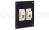 Universal Sub-Panel Black,2 Ivory Feed-Thru Couplers, RJ12 (6x6) Straight -- USP2ECF6SB