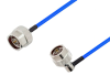 N Male to N Male Right Angle Cable 24 Inch Length Using PE-141FLEX Coax, RoHS -- PE3CA1048-24 -Image