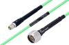 Temperature Conditioned SMA Male to N Male Low Loss Cable 24 Inch Length Using PE-P142LL Coax -- PE3M0132-24 -Image