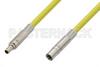 75 Ohm Mini SMB Plug to 75 Ohm Mini SMB Jack Cable 60 Inch Length Using 75 Ohm PE-B159-YW Yellow Coax -- PE38141/YW-60 -- View Larger Image