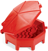 PIG Poly Drum Funnel with Hinged Lid Black For 55 gal. Tight-Head Steel & Poly Drums, 1 each Drum Funnels DRM672-BK -- DRM672