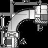 S137 – JIC Male x ORFS Female Swivel 90º Tube Bend