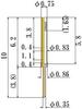 Small Size Socket Pin -- NV6R100F75-GG -Image