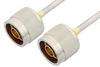 N Male to N Male Cable 48 Inch Length Using PE-SR402AL Coax -- PE34138LF-48 -Image