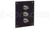 Universal Sub-Panel, Three RCA Couplers- Green/Blue/Red -- USP3RCA-CB