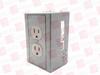 HUBBELL DRUB15 ( DIN-R UTL BOX, 15A 125V, DUPLEX, VERTICAL, GRAY ) -Image
