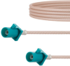 Water Blue FAKRA Plug to FAKRA Plug Cable 60 Inch Length Using RG316 Coax -- FMCA1355Z-60 -Image