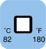 Irreversible 1-Point Square Temperature Label, 180F/82C; 50/Pk -- GO-90309-20
