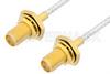 SMA Female Bulkhead to SMA Female Bulkhead Cable 36 Inch Length Using PE-SR405FL Coax, RoHS -- PE34070LF-36 -Image