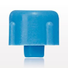 Non-Vented, Threaded Male Cap Plug, Blue -- 65816 - Image