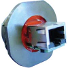 connector,metal circ,jam nut recept,rj45 to rj45,transversal seal,green finish -- 70026567