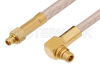 MMCX Plug to MMCX Plug Right Angle Cable 12 Inch Length Using RG316 Coax -- PE34895-12 -Image