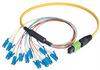 MPO Male to 12x LC Fan-out, 12 Fiber Ribbon, 9/125 Singlemode, OFNR Jacket, Yellow, 1.0m -- MPM12S-LC-1 - Image