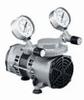 Vacuum/pressure diaphragm pumps, PTFE-coated wetted parts, 1.2 cfm, 12 VDC -- GO-79200-40