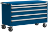Heavy-Duty Mobile Cabinet, with Partitions -- R5BKG-3029 -- View Larger Image