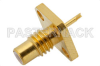 SMC Jack Connector Solder Attachment 4 Hole Flange Solder Cup Terminal, .232 inch Hole Spacing -- PE44143 -Image