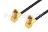 SSMC Plug Right Angle to SSMC Plug Right Angle Low Loss Cable 24 Inch Length Using LMR-100 Coax -- PE3C4421-24 -Image