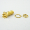 SMA Female (Jack) Bulkhead PCB Connector .052 inch End Launch, Solder, Gold Plated Brass Body, Length 0.739 In -- SC8439 -Image